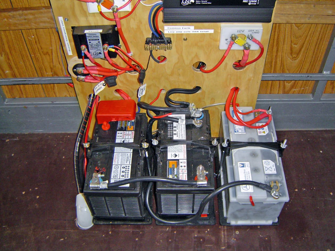 Battery Power - 2 on left are 24V House, 12V House on right