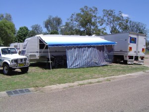 Our site Moree Mehi River Caravan Park