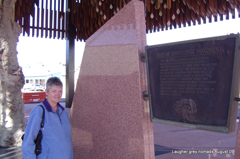 Tree of Knowledge monument Barcaldine - a gross monument to Government idiocy