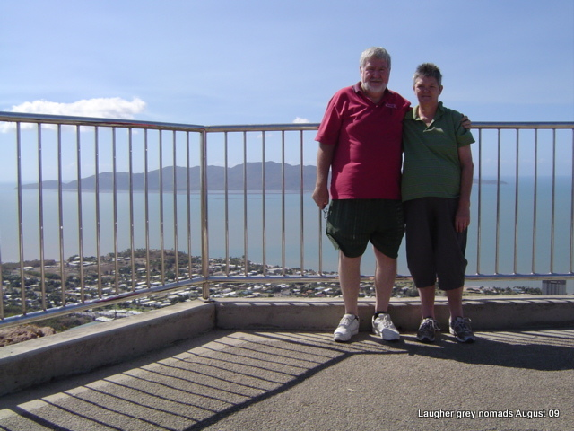 Castle Hill lookout, with Magnetic Island in the background