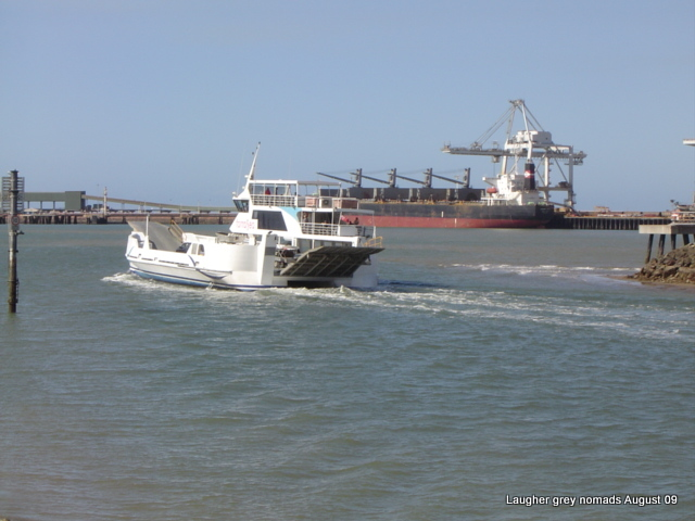 Magnetic Island ferry on its way through the Townsville Port