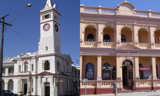 Charters Towers Post Office and old Bank of NSW buildings - both 1890s vintage.